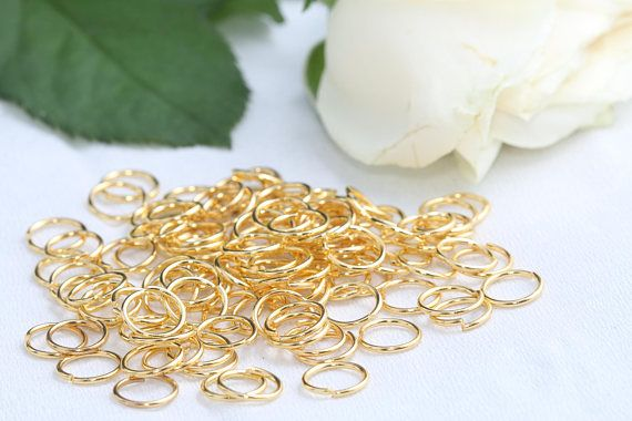 24K Gold Plated Jump Rings8mm Jump RingsConnectorSKU/Z14