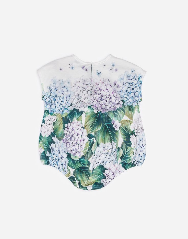 PRINTED COTTON BABYGROW WITH APPLIQUÉ DETAILS