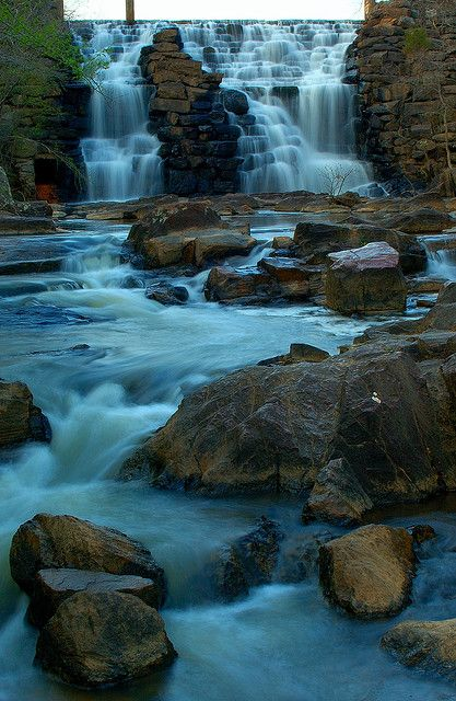Chewacla Falls...Chewacla State Park south of Auburn Alabama.. by BamaWester, via Flickr