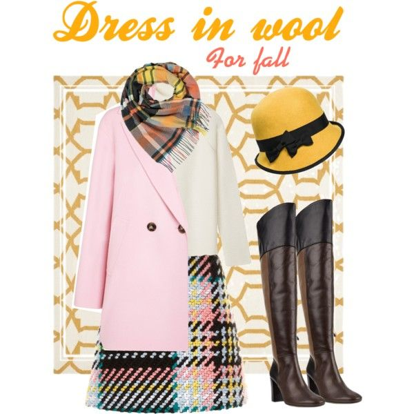 Wool outfit by marievel on Polyvore featuring polyvore, fashion, style, Tory Burch, Marella, Marni, Vivienne Westwood, Safavieh, Fall, Pink, wool and PolyvoreMostStylish