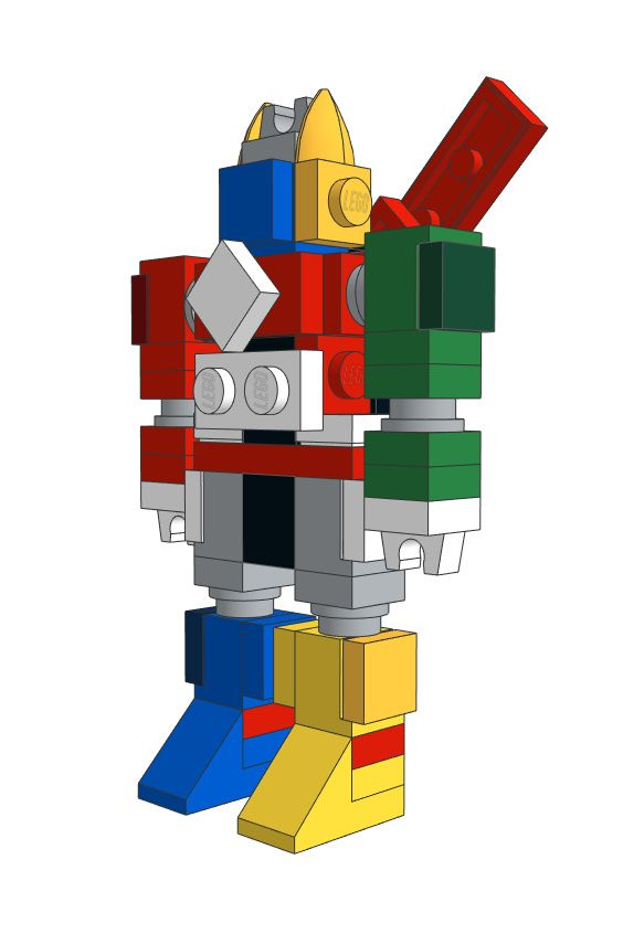 Download the Mini LEGO Voltron: Defender Of The Universe MOC on our website for free!  #Voltron #MOC #LEGO #cool #download #free #3dmodel #decor #design