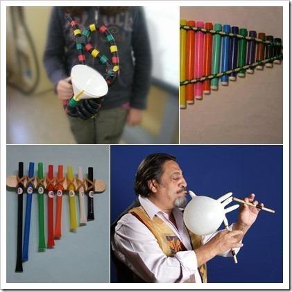 Costruire strumenti musicali con i bambini