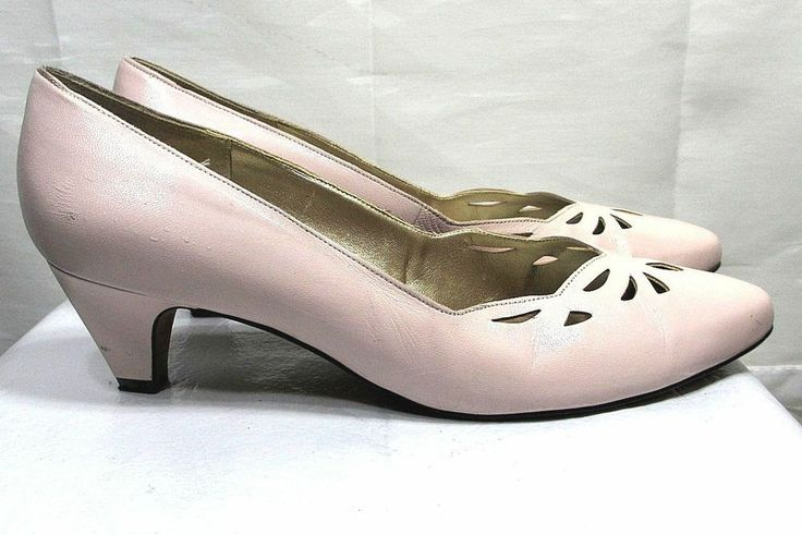 Light Pink Low Heel Shoes | Tsaa Heel