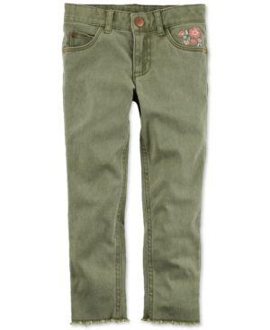 Carter's Embroidered Pants, Little Girls (2-6X) & Big Girls (7-16) - Green 6X