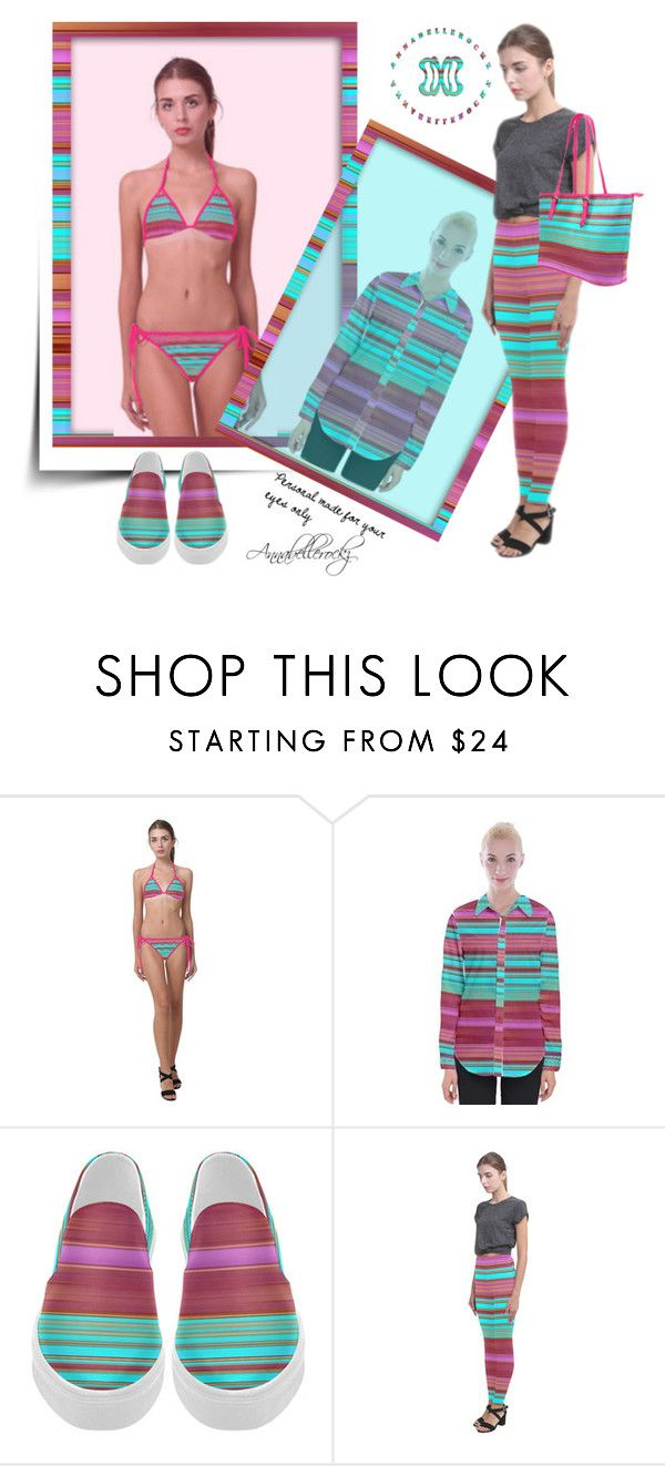 Stripes of joy by annabellerockz on Polyvore featuring outfit and beachwear