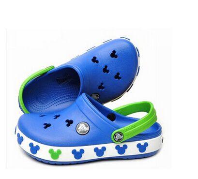 2016 Toddler summer style Brand children's sandals 3D cartoon Mickey Minnie boys girls beach slippers kids shoes sandal