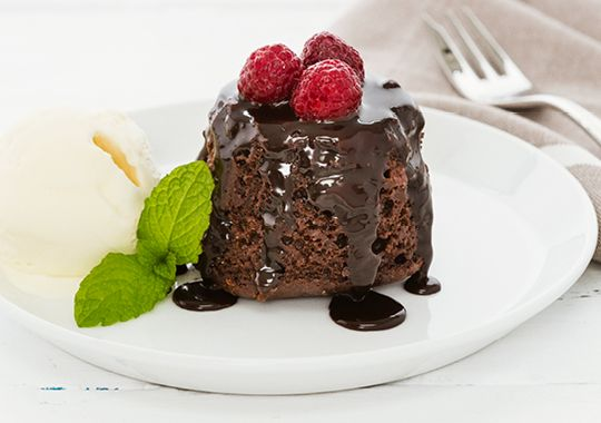 Chocolate and Raspberry Pudding - great alternative to the traditional Christmas Pudding!