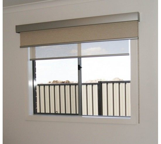 Perfect for bedrooms, Michael always recommends an inside mounted sunscreen blind and an outside mounted blockout blind with pelmet 95 completing the look.
