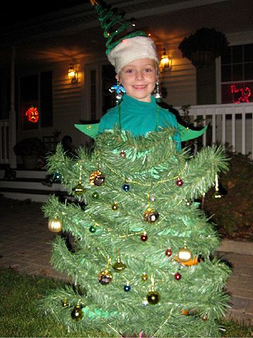 Glue Christmas tree garland to a green sweat suit to create this creative costume!                 Submitted by: ksachleben