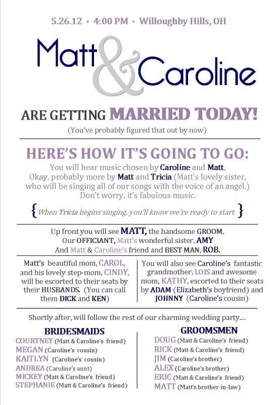 25 Best Ideas About Wedding Programs Wording On Pinterest