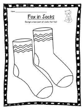 Design+a+new+pair+of+socks+for+Fox+in+Socks!+Great+to+use+on+Dr.+Seuss'+birthday.
