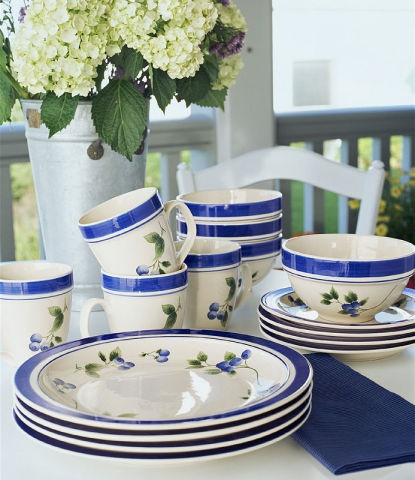 Ll Bean Blueberry Dish Set Too Bad They Are Discontinued