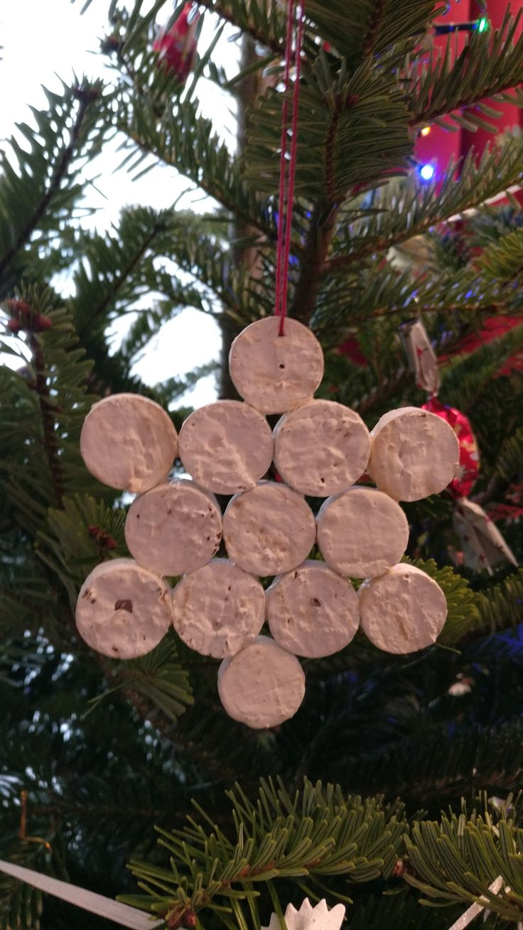 Corkwood start- special  christmas tree ornament