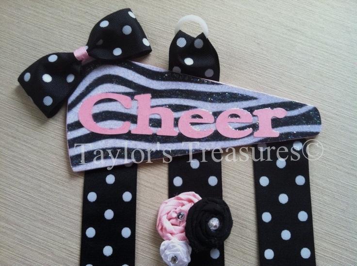 Taylors Treasures - Cheerleading Cheer Hair Bow Holder - Your Team Colors. $12.99, via Etsy.
