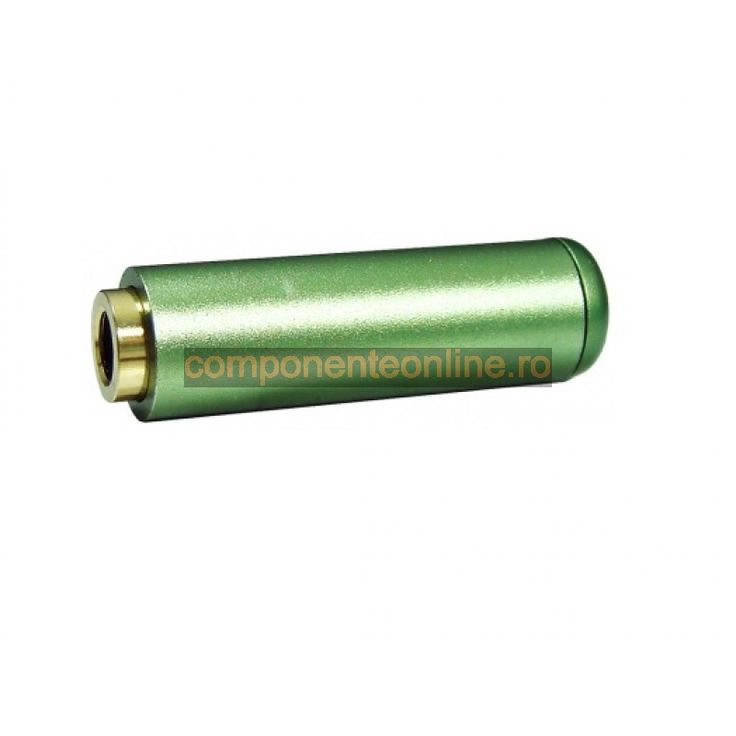 Conector jack 3,5mm, stereo, mama, pe cablu, verde - 121144