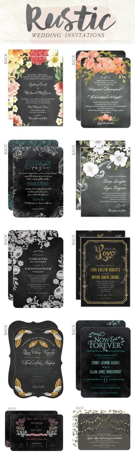 Rustic wedding invitations could be customized with