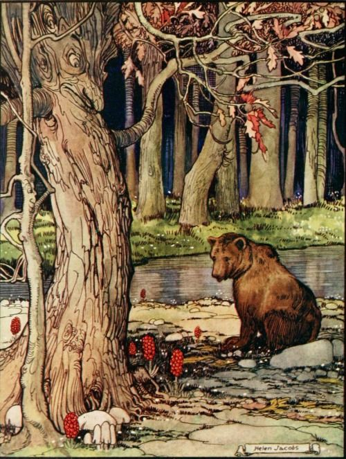 Carl Ewald, The old willow-tree, and other stories (1921) Illustration by Helen Jacobs