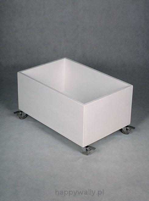 White toy chest nursery toy box toy bin storage toy by NOBOBOBO