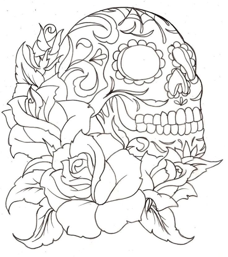 printable skull coloring pages file name sugar_skull_coloring_pages_freejpg resolution 841x949px