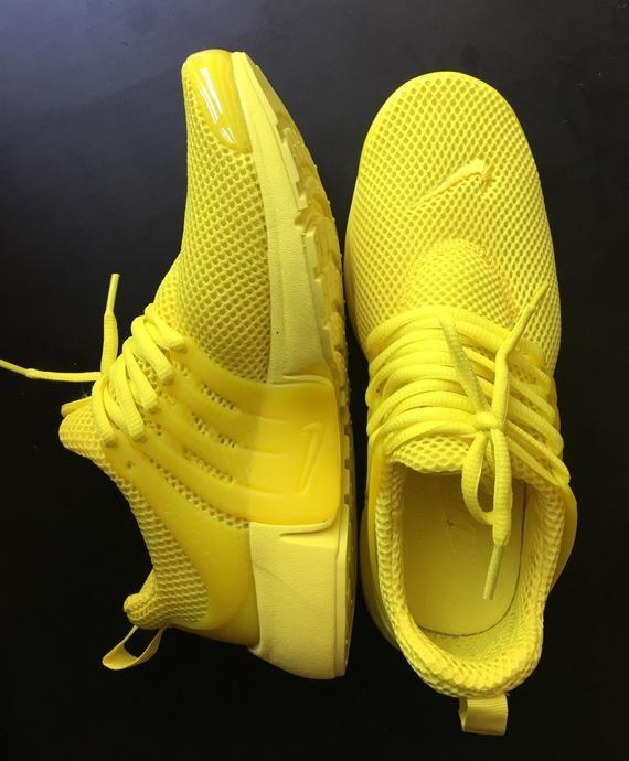 Yellow Nike Presto Custom   Etsy