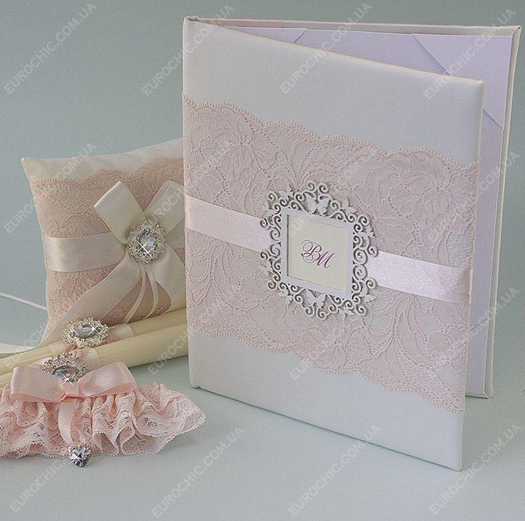Свадебная папка ROSE QUARZ светло-розовая