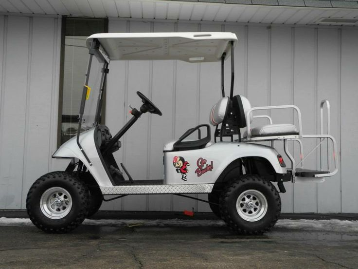 This very cool 2001 E-Z-GO electric PDS street-ready custom golf car features gray metallic paint, and officially-licensed graphics. This cart has new batteries and is decked out with accessories for $5290. See more at: http://www.powerequipmentsolutions.com/products-a-services/online-store/used-golf-carts/e-z-go-golf-carts/e-z-go-electric-golf-carts/2001-e-z-go-pds-street-ready-osu-buckeyes-custom-golf-car.html   #OSU #Buckeyes #OhioStateUniversity