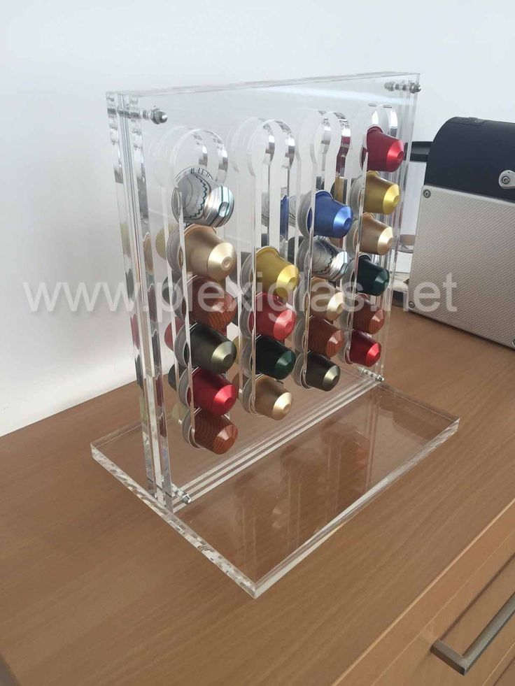http://www.plexiglas.de/product/plexiglas/en/references/furniture-exhibition-shopfitting/Pages/coffee-capsule-holder.aspx  Germans drink an average of 1184 cups of coffee per year. But where do you put all those #coffee pods? Maybe in a stylish #pod #holder made of #PLEXIGLAS®, which works exceptionally well in understated, elegant designs. Not only does it save space—this piece is transparent yet classic.