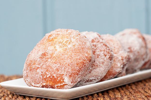 nutella filled sugar donuts