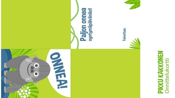Onnittelukortti | lasten | juhlat | askartelu | syntymäpäivät | synttärit | paperi | tulostettava | greeting card | printable | paper | DIY ideas | birthday | party | kids | children | kid crafts | crafts | Pikku Kakkonen