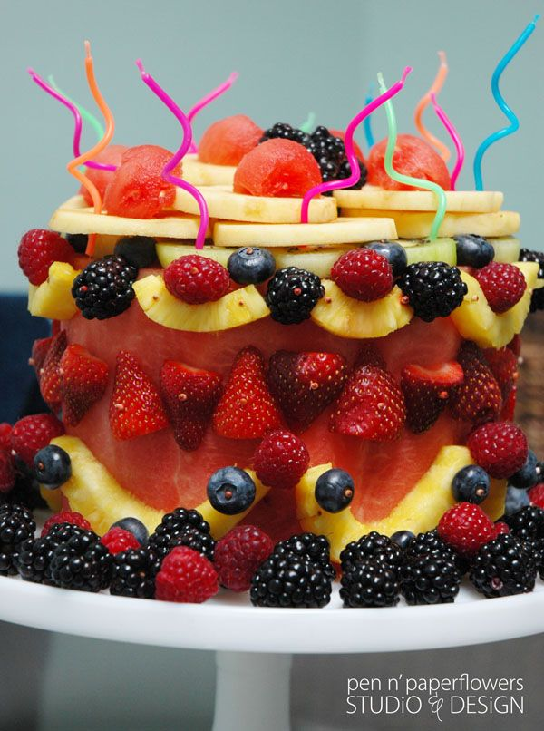 watermelon cakes fruit cakes fruit art a fruit 13th birthday my dad ...
