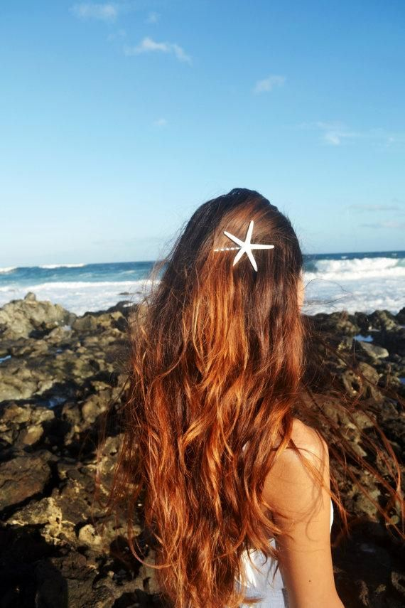 Starfish bobby pin, love it, could use any shell you have that would adhere to bobby pin I'm thinking so many cold work!