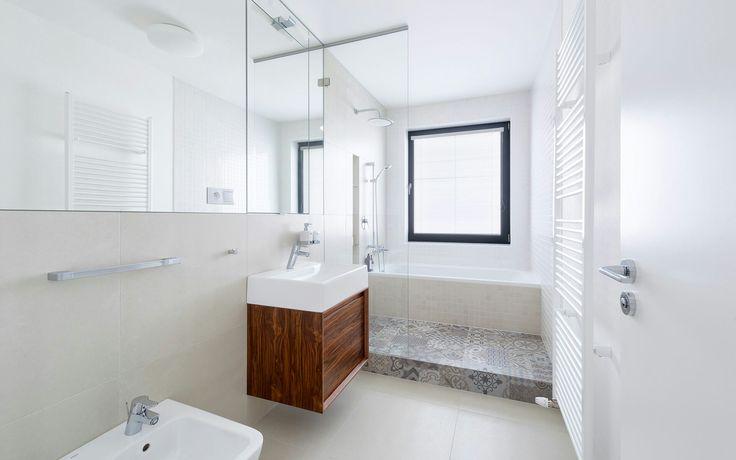 Bathroom_ porcelanosa tiles_walnut veneer_slovakia