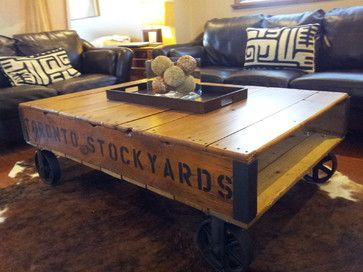 Industrial Pallet Coffee Tables modern-coffee-tables