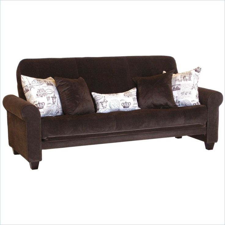 Big Tree Medina Futon With 5 Pillows In Legend Espresso Colored Fabric    Z62559SSF023PW5 Great Pictures