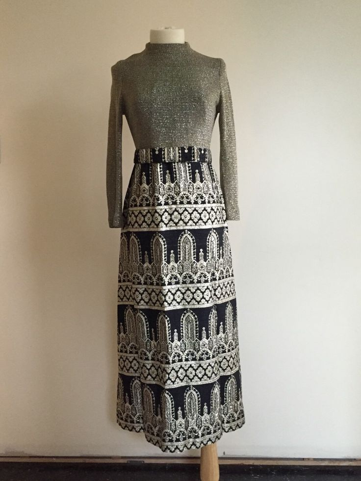 A personal favorite from my Etsy shop https://www.etsy.com/ca/listing/259262142/1960s-vintage-maxi-dress-metallic-thread
