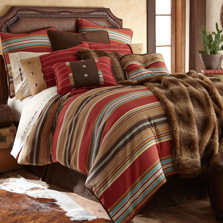 Calhoun 4 5 Pc Southwest Comforter Bed Set Bed Sets And