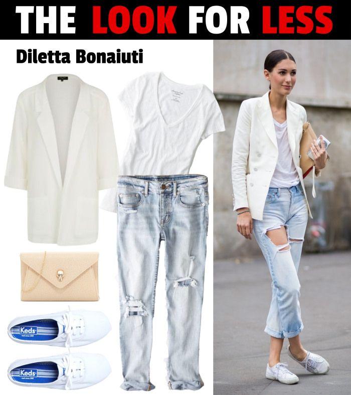 Look For Less: #DilettaBonaiuti | www.fatfreefashion.com #lookforless #style