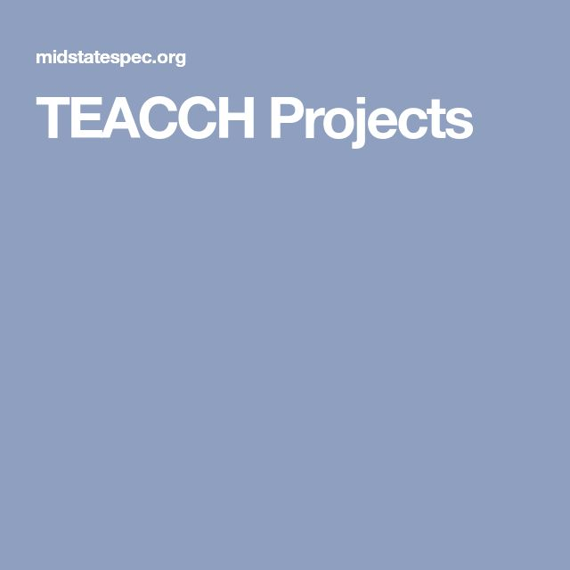 TEACCH Projects