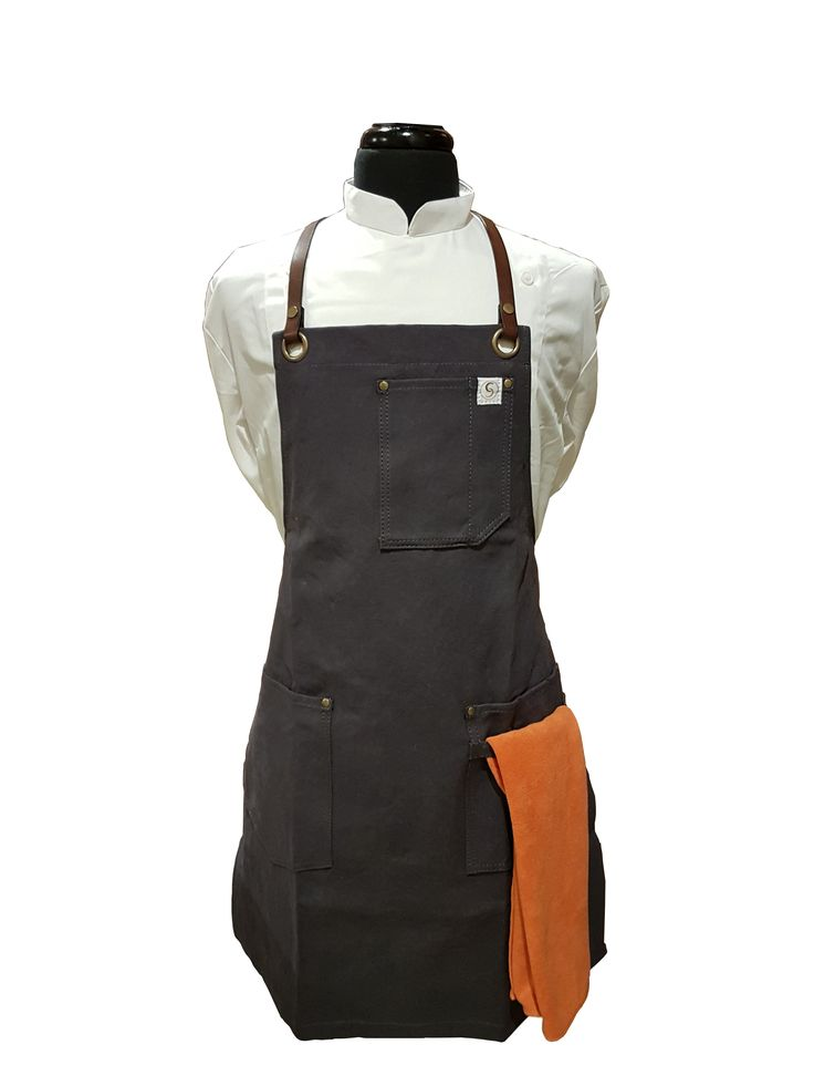 Leather Strap Waxed Canvas Aprons