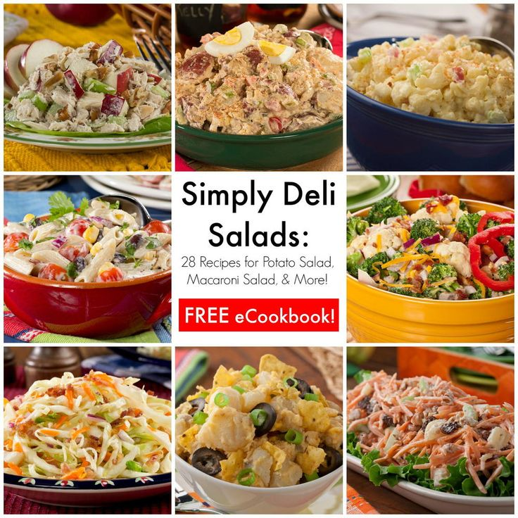 Simply Deli Salads: 28 Best Recipes for Potato Salad, Macaroni Salad & More | MrFood.com