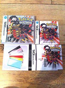 a sin juego pokemon version platinum estuche y las instrucciones solo nintendo ds