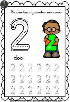 Trazo números del 1 al 30 fichas para repasar