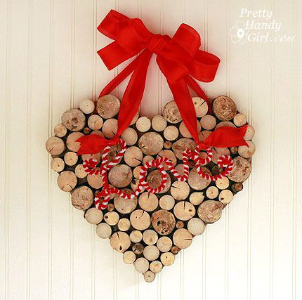 Valentine's Wreath from Tree Branches Tutorial