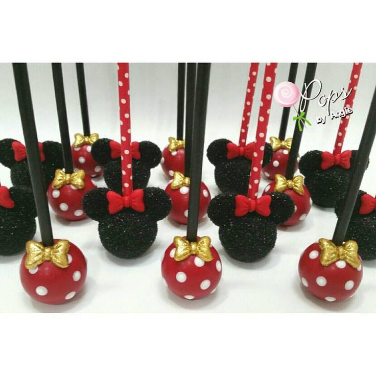 Minnie Mouse Head & Polka Dots Cake Pops
