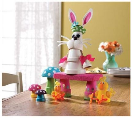Flower Pot Chic and Bunny Craft #craft #easter