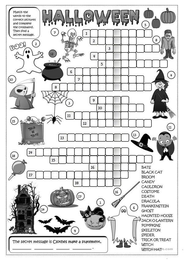 Halloween - crossword | All Hallows' Eve | Halloween ...