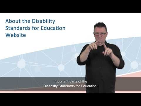 Disability Discrimination Act (DDA) - Disability Standards for Education