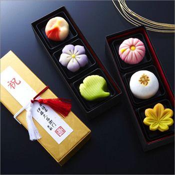 Japanese Sweets, 【京都】伊藤久右衛門の生菓子 長寿と縁起を願った見た目も華やかな京の生菓子。 敬老の日の贈り物にもいいですね。