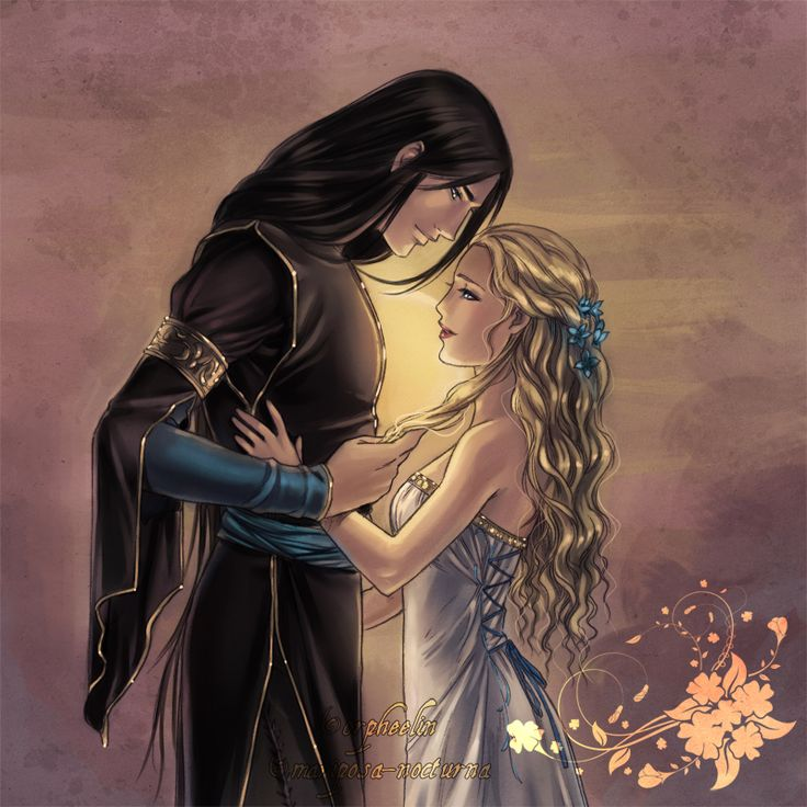 Loki and sigyn Elizabeth, if you can read this I think he looks more like an Elf here and its really pretty!