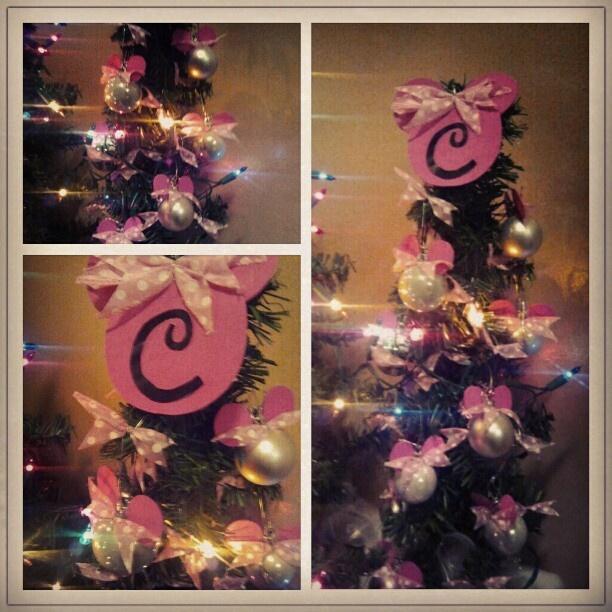 DIY Minnie Mouse Christmas tree ornament | Christmas decor ...